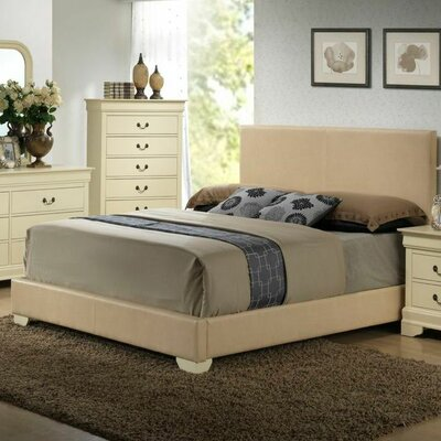 Glory Furniture Hillary Upholstered Panel Bed