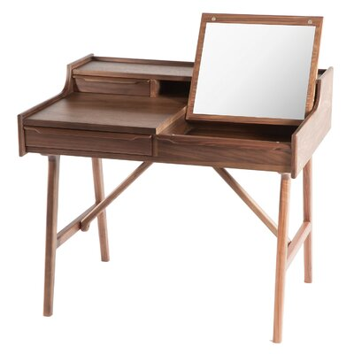 dCOR design Vanity Desk with Mirror