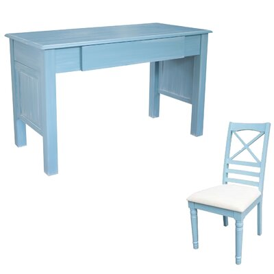 dCOR design Palmetto Beach Writing Desk w..