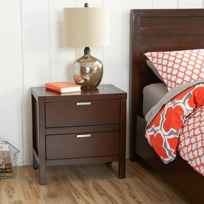 Mercury Row Juno 2 Drawer Nightstand