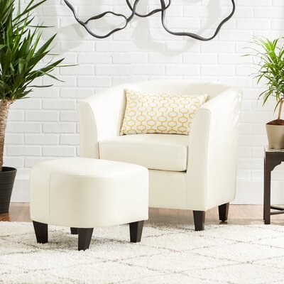 Mercury Row Apollonios Retro Club Chair & Ottoman Set