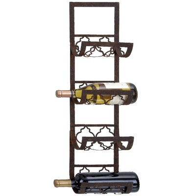 Mercury Row Abram 4 Bottle Wall Mounted Wine Rack