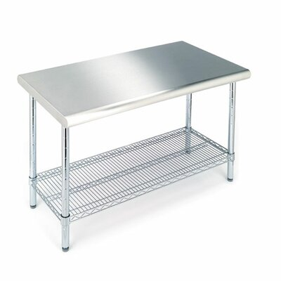 Mercury Row Prep Table with Stainless Steel Top