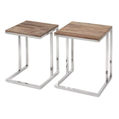 Mercury Row Artman 2 Piece Nesting Table Set