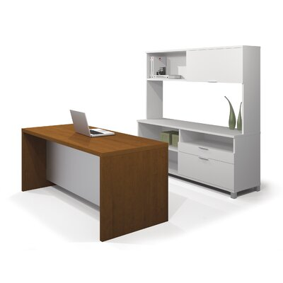 Mercury Row Ariana Standard Desk Office Suite with Hutch and Executive Desk