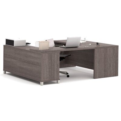 Mercury Row Ariana 3-Piece U-Shape Desk Office Suite