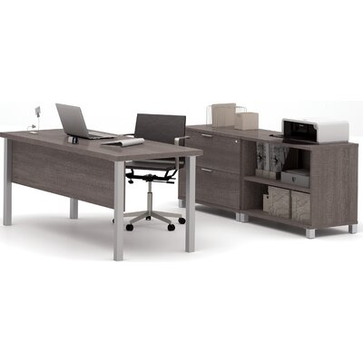 Mercury Row Ariana 3-Piece U-Shape Desk O..