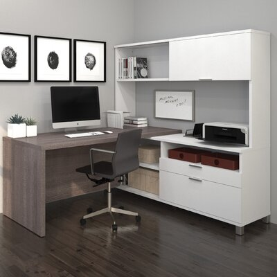 Mercury Row Ariana 3-Piece L-Shape Desk O..