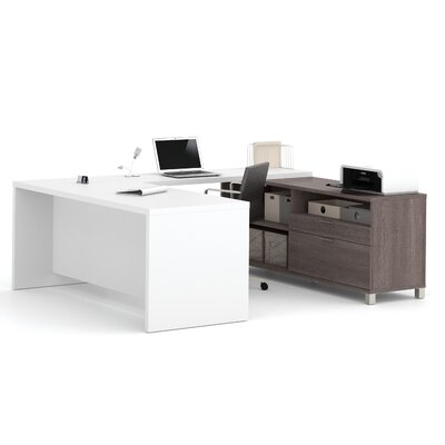 Mercury Row Ariana 2-Piece U-Shape Desk Office Suite