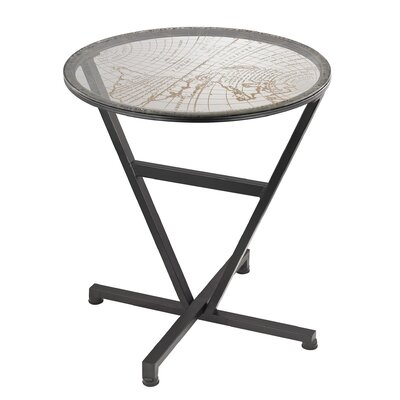Mercury Row Applin World Map End Table