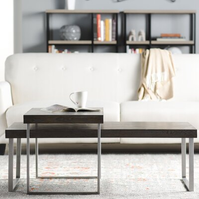 Mercury Row Asine 2 Piece Nested Coffee Table Set
