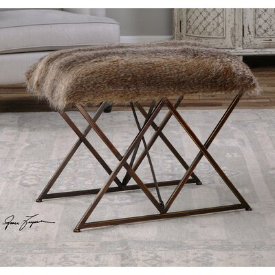 Mercury Row Phaeton Faux Fur Bedroom Bench