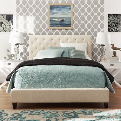Mercury Row Brendle Upholstered Panel Bed