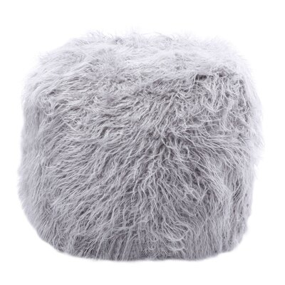 Best Home Fashion, Inc. Faux Mongolian Lamb Pouf Ottoman