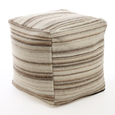 Best Home Fashion, Inc. Marble Striped Pouf  Ottoman
