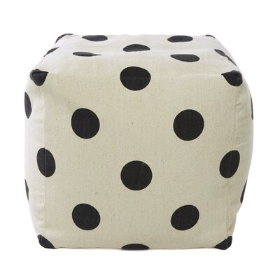 Best Home Fashion, Inc. Polka Dot Pouf Ottoman Image