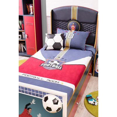 Cilek Soccer Extra Long Twin Panel Bed with Trundle and Storage