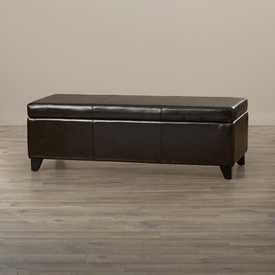 Red Barrel Studio Griffey Leather Storage Ottoman