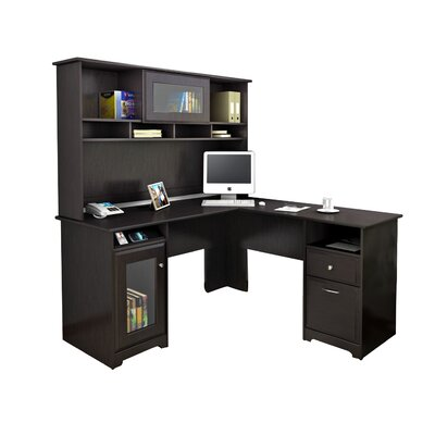 Red Barrel Studio Capital Computer Desk with Hutch