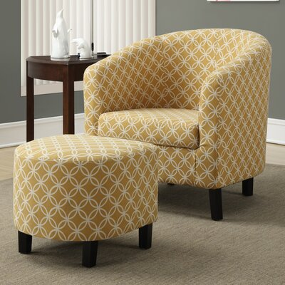 Red Barrel Studio Boulevard Barrel Chair and Ottoman Set