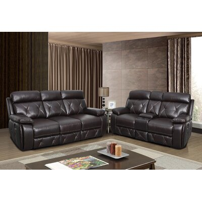 Red Barrel Studio New South Leather Reclining Sofa