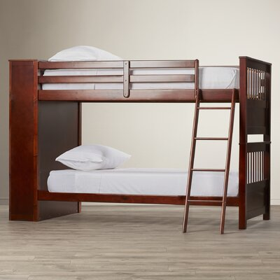 Red Barrel Studio Oliver Twin over Twin Bunk Bed with Bookshelves