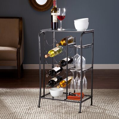 Red Barrel Studio Alzado 10 Bottle Floor Wine Rack