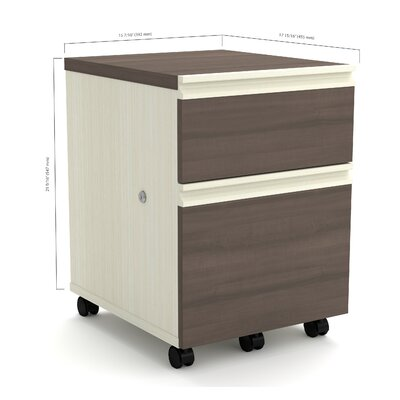 Red Barrel Studio Bormann 2-Drawer Mobile..