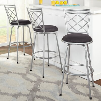 Red Barrel Studio Lamoille Adjustable Height Swivel Bar Stool (Set of 3)