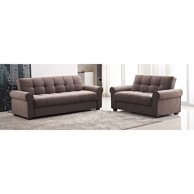 Red Barrel Studio Russell Click Clack Sofa and Loveseat Set