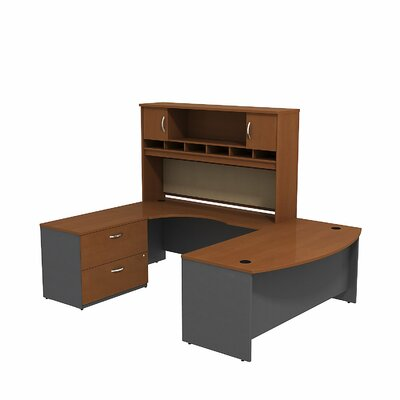 Bush Business Furniture Series C Bow Front Desk Office Suite