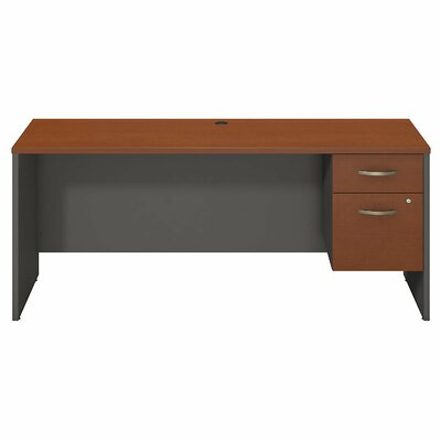 Bush Business Furniture Series C Executive Desk with Pedestal