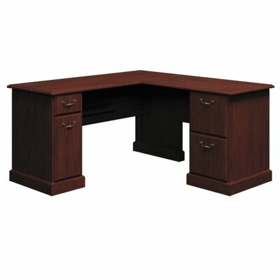 Bush Business Furniture Syndicate Executive Desk with Double Pedestals
