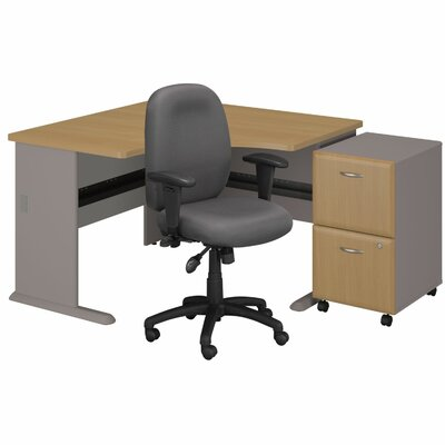 Bush Business Furniture Series A Left Executive Desk with 2 Drawer File