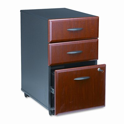 Bush Business Furniture Series A 3-Drawer Mobile Pedestal