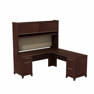 Bush Business Furniture Enterprise L-Shape Corner Desk with Hutch