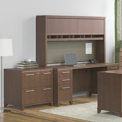 Bush Business Furniture Enterprise Double Pedestal Desk Office Suite
