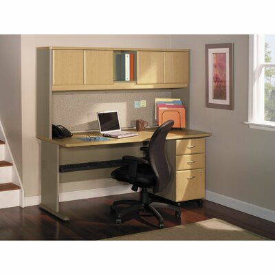 Bush Business Furniture Series A Computer Desk with 3 Drawer File
