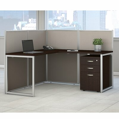 Bush Business Furniture Easy Office L-Shape Desk Office Suite