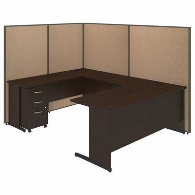 Bush Business Furniture ProPanel 9-Piece U-Shape Desk Office Suite