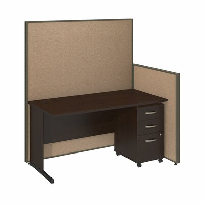 Bush Business Furniture ProPanel 5-Piece Standard Desk Office Suite