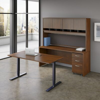 Bush Business Furniture Series C Elite 2-Piece Standard Desk Office Suite