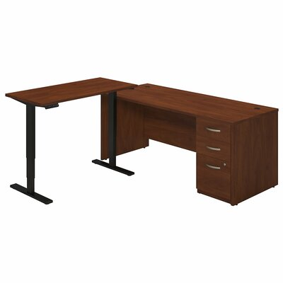 Bush Business Furniture Series C Elite Writing Desk with Height Adjustable..