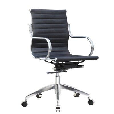 Fine Mod Imports Twist High-Back Leather Office Chair