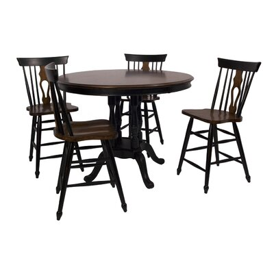 Sunset Trading Fiddleback 5 Piece Dining Set