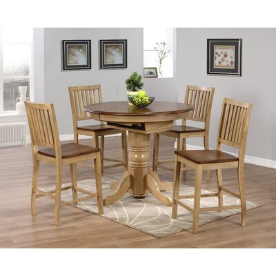 Loon Peak Huerfano Valley 5 Piece Pub Table Set