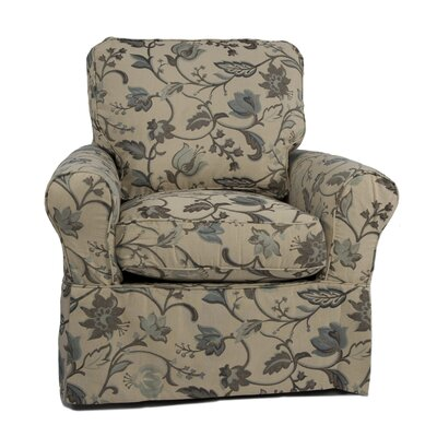 Sunset Trading Horizon Slipcovered Swivel Chair