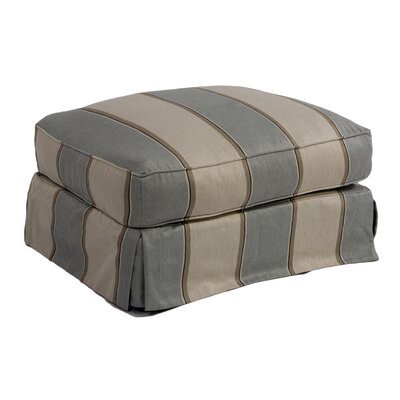 Sunset Trading Americana Slipcovered Ottoman