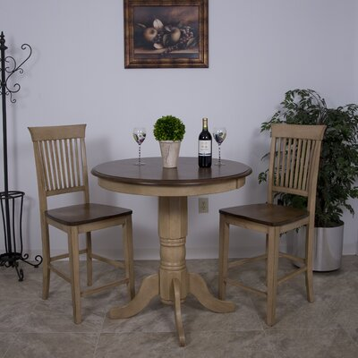 Loon Peak Huerfano Valley 3 Piece Pub Table Set