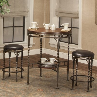 Rosalind Wheeler Dunloy 3 Piece Pub Table Set